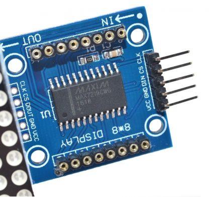 сегментный индикатор max7219 arduino, матричный модуль (ардуино бегущая строка, arduino часы)